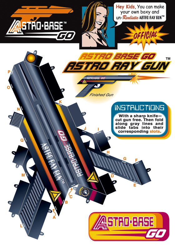 Free All Picture Papercraft Ray Gun
